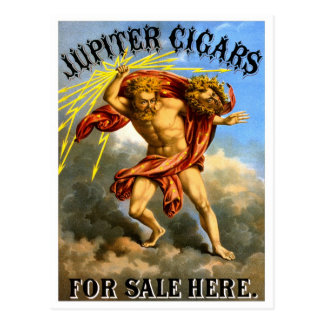 Jupiter Cigars, 1868 Postcard