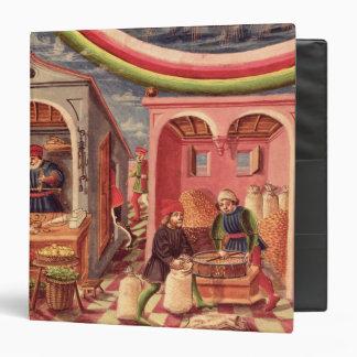 Jupiter, detail of fruit and grain merchants vinyl binder