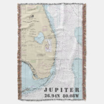 Jupiter FL Hometown Latitude Longitude Nautical Throw