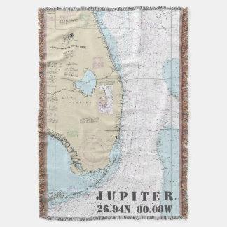 Jupiter FL Hometown Latitude Longitude Nautical Throw