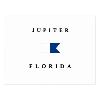 Jupiter Florida Alpha Dive Flag Postcard
