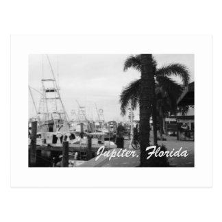 Jupiter, Florida Boat Dock photo postcard