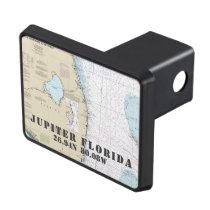 Jupiter Florida Latitude Longitude Nautical Trailer Hitch Cover