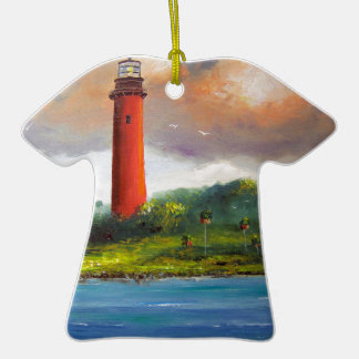 Jupiter Florida Lighthouse Double-Sided T-Shirt Ceramic Christmas Ornament