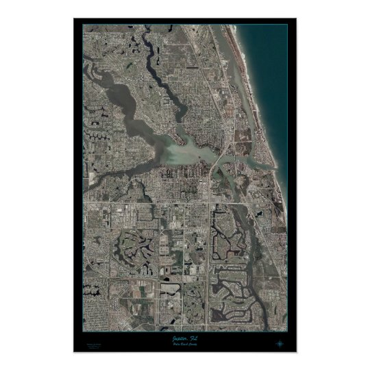 Jupiter florida map satellite poster zazzle jupiter florida map satellite poster gumiabroncs Image collections