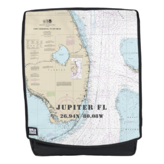Jupiter Florida Nautical Latitude Longitude Backpack