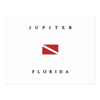 Jupiter Florida Scuba Dive Flag Postcard