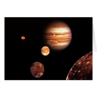 Jupiter Galilean Moons Astronomy & Science Gifts Card