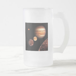 Jupiter Galilean Moons Astronomy & Science Gifts Frosted Glass Beer Mug