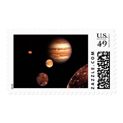 Jupiter Galilean Moons Astronomy & Science Gifts Postage Stamp