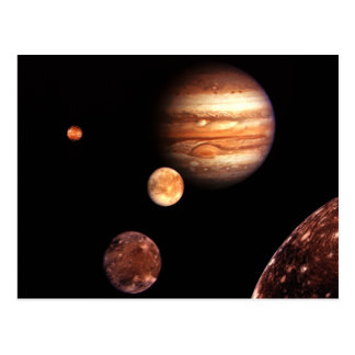 Jupiter Galilean Moons Astronomy & Science Gifts Postcard