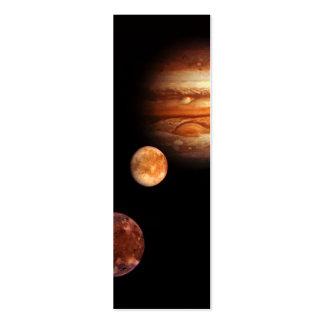 Jupiter Galilean Satellites NASA Business Card Templates