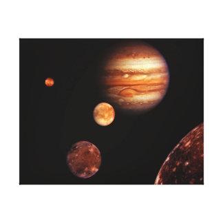 Jupiter Galilean Satellites NASA Canvas Print