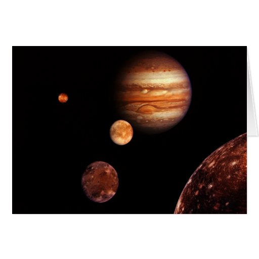 Jupiter Galilean Satellites NASA Greeting Card
