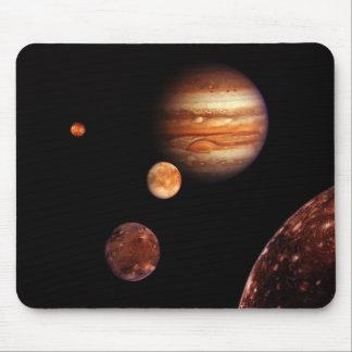 Jupiter Galilean Satellites NASA Mousepads