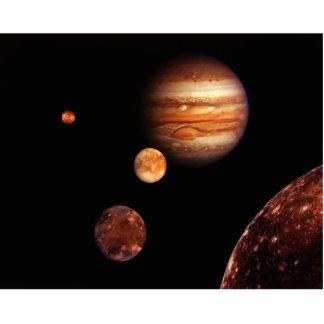 Jupiter Galilean Satellites NASA Photo Cut Out