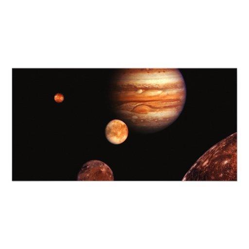 Jupiter Galilean Satellites NASA Photo Card
