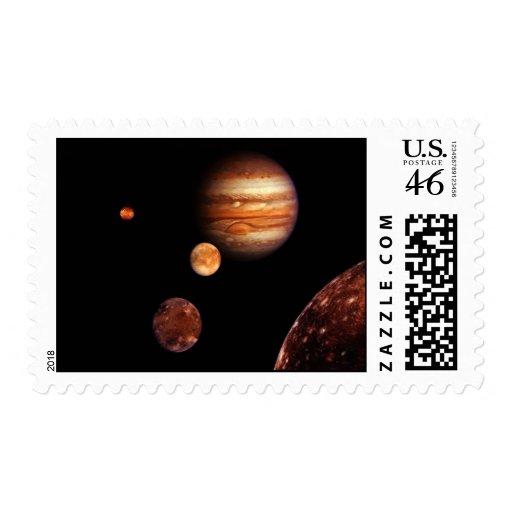Jupiter Galilean Satellites NASA Stamps