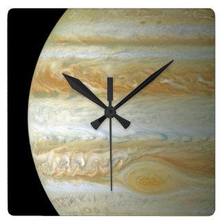 Jupiter Hemisphere Square Wall Clock
