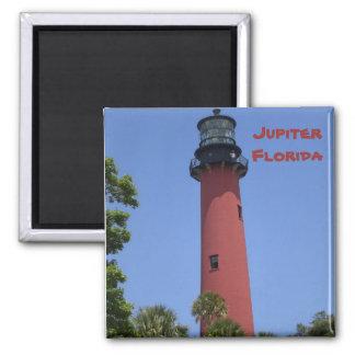 Jupiter Inlet Lighthouse 2 Inch Square Magnet