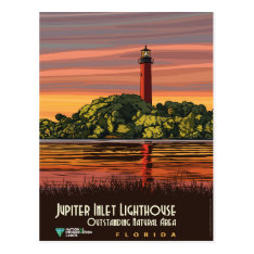 Jupiter Inlet Lighthouse Postcard at Zazzle