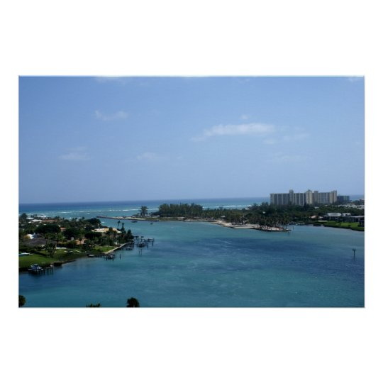 Jupiter Inlet-View from Lighthouse Poster