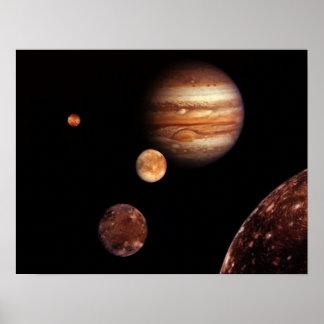 Jupiter Io, Europa, Ganymede, and Callisto Poster