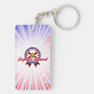 Jupiter Island, FL Double-Sided Rectangular Acrylic Keychain