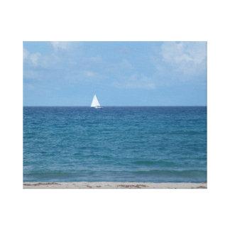 Jupiter Island – Florida – Ocean Sailing Away Canvas Print