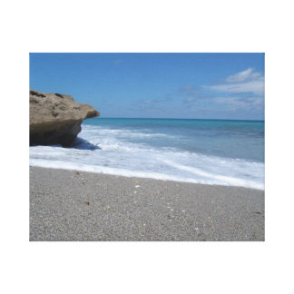 Jupiter Island - Florida - Rock Sandy Beach Canvas Print