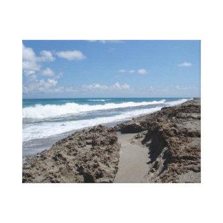 Jupiter Island – Florida – Rocky Beach Tranquility Canvas Print