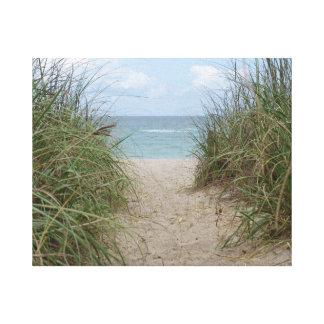 Jupiter Island - Florida - Sea Oats to the Ocean Canvas Print