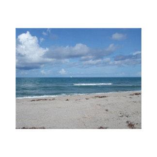 Jupiter Island – Florida – Waves on the Beach Canvas Print