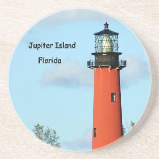 Jupiter Island Lighthouse Drink Coaster