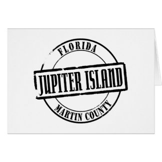 Jupiter Island Title Stationery Note Card