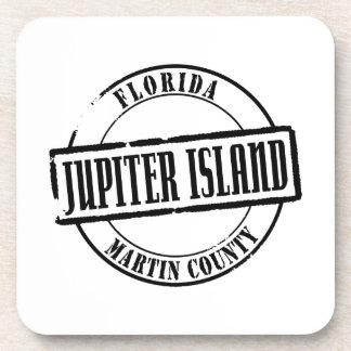 Jupiter Island Title Drink Coaster