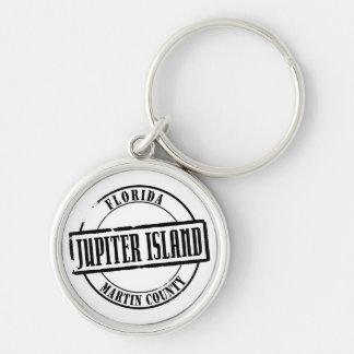 Jupiter Island Title Silver-Colored Round Keychain