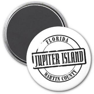 Jupiter Island Title 3 Inch Round Magnet