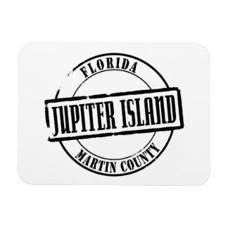 Jupiter Island Title Rectangular Photo Magnet