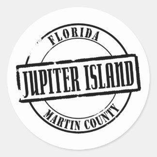 Jupiter Island Title Classic Round Sticker