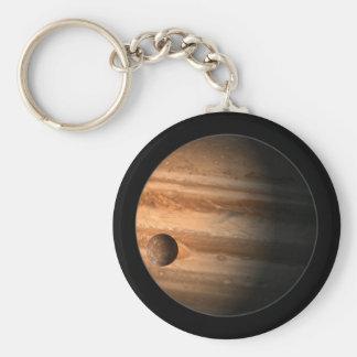 Jupiter Basic Round Button Keychain