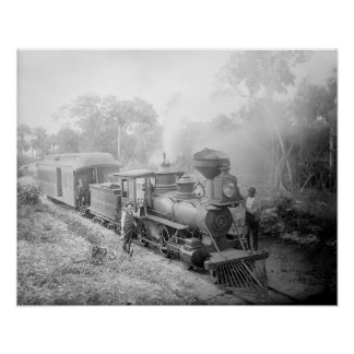 Jupiter & Lake Worth Railroad, 1897. Vintage Photo Poster