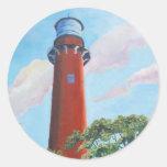 Jupiter Lighthouse Classic Round Sticker