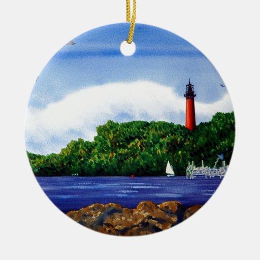 Jupiter Lighthouse III Christmas Ornaments