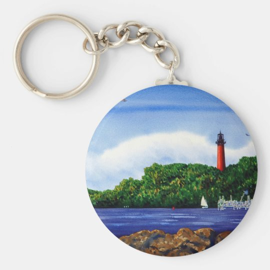 Jupiter Lighthouse III Keychain