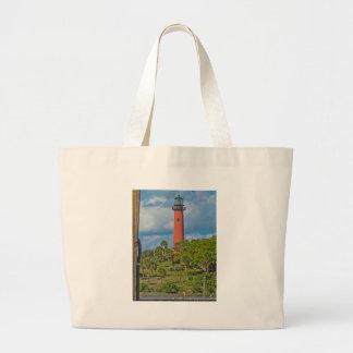 Jupiter Lighthouse Large Tote Bag