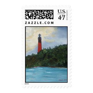 Jupiter Lighthouse Postage Stamp