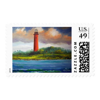 Jupiter Lighthouse Postage Stamps