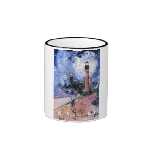Jupiter lighthouse ringer coffee mug