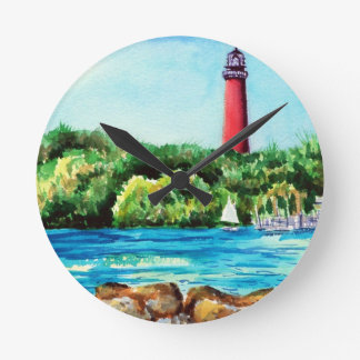 Jupiter Lighthouse Round Clock